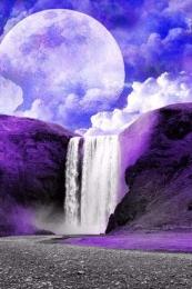 3D Waterfall HD wallpaper