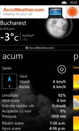 AccuWeather pentru Windows Phone