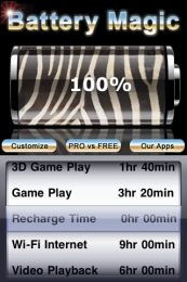 Battery Magic pentru iPhone