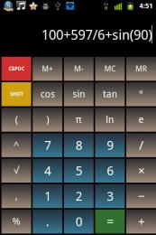 Calculator științific pentru Android