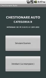 Chestionare Auto pentru Android