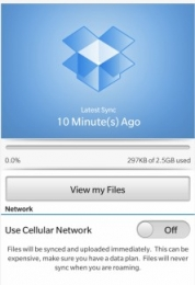 Connect to Dropbox - BlackBerry