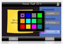 Missed Call LED - 12 LED colors