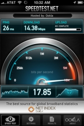 Speedtest.net pentru iPhone