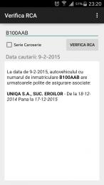 Verifica RCA pentru Android