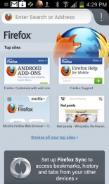 Mozzila Firefox pentru Android