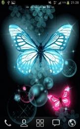 Glitter Butterflies Wallpaper