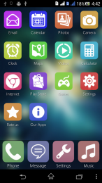 Fake iOS7 Launcher Theme Color