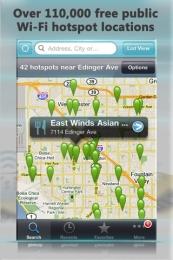 Free Wi-Fi Finder pentru iPhone