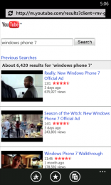 YouTube pentru Windows Phone